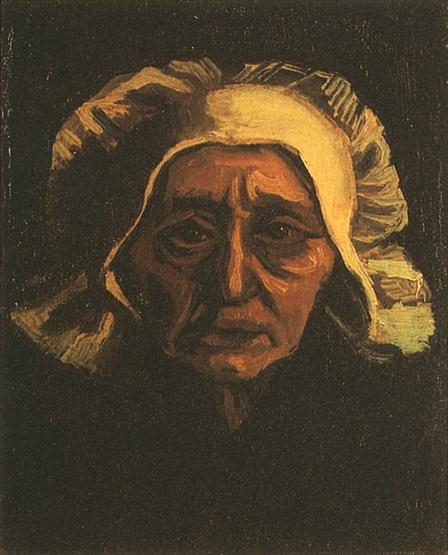 head of an old peasant woman with white cap version