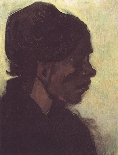 Head of a Brabant Peasant Woman with Dark Cap