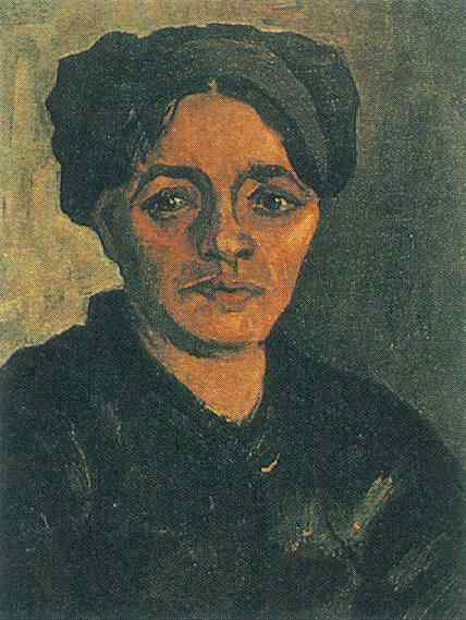 head of a peasant woman with dark cap version