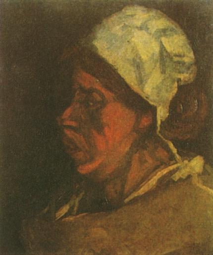 head of a peasant woman with white cap version