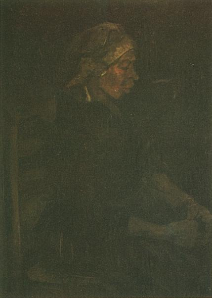 Peasant Woman, Seated, with White Cap