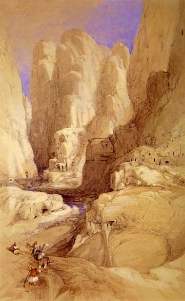 David Roberts Entrance To Petra