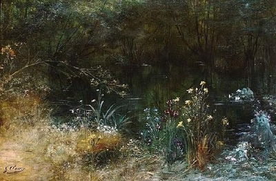 Georges Clairin A Lake With Naiads