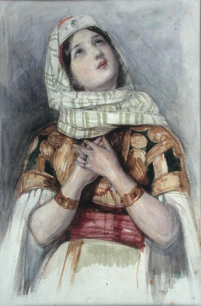 John Frederick Lewis A Young Lady In Turkish Dress