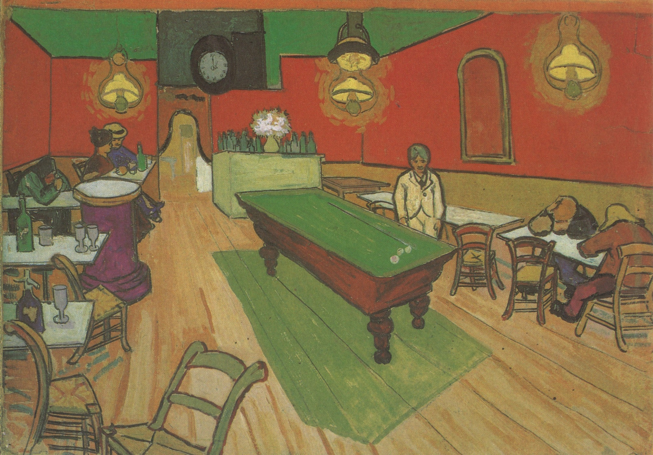 vincent van gogh pool table painting