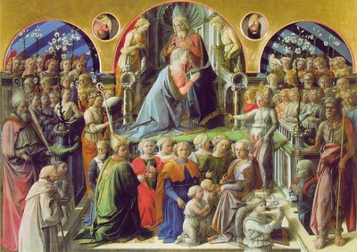 Lippi Coronation of the Virgin, 1441 47, 200x287 cm, Uffizi