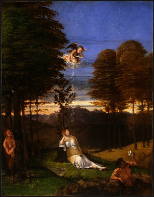 LOTTO ALLEGORY OF CHASTITY, C  1505, NGW