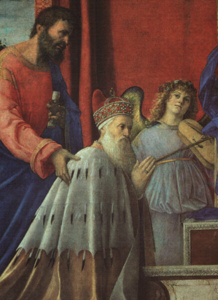 BELLINI,G  THE DOGE BARBARIGO, ST  JOHN, AND MUSICIAN ANGELS