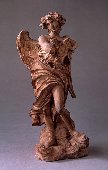 Bernini Gian Lorenzo Angel with the Inscription of I N R I