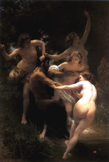bouguereau nymphs and satyr