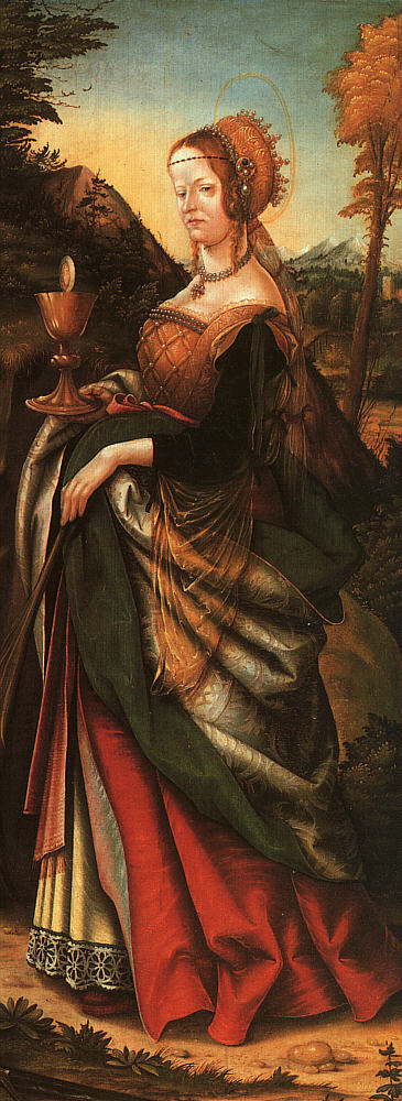 Burgkmaier St  Barbara, 1518, oil on panel, Gemaldegalerie,