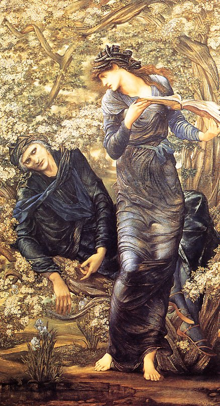 Burne Jones The Beguiling of Merlin end