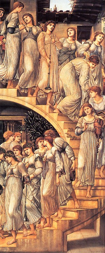 Burne Jones The Golden Stairs end