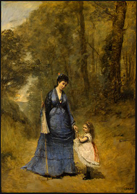Corot Madame Stumpf and Her Daughter, 1872, NG Washington