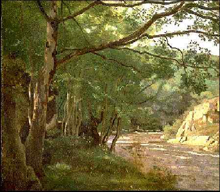 Corot Ravine in the Morvan, Near Lormes, 1860, High Museum o