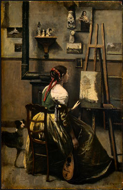Corot The Artists Studio, c  1855 1860, NG Washington