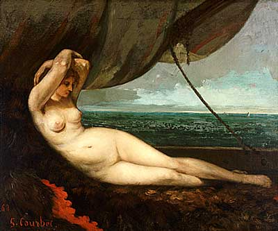 Courbet Nude Reclining by the Sea