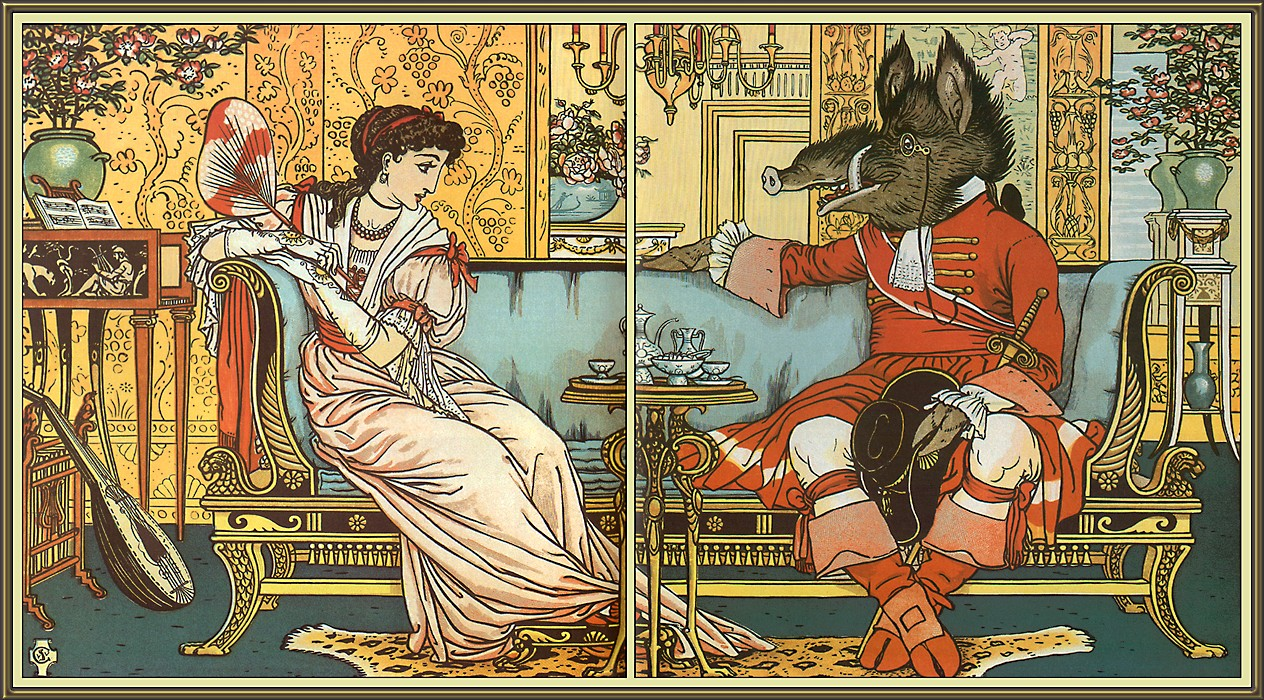 Walter Crane PICTORIAL ELEMENTS Walter Crane Beauty and the Beast