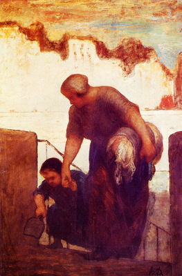 Daumier Honore The Laundress