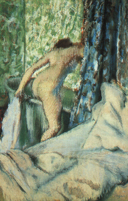 Degas The Morning Bath, 1890, pastel on paper, The Art Insti