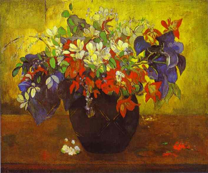 Gauguin bouquet of flowers gauguin paul artists art for Bouquet de fleurs nature