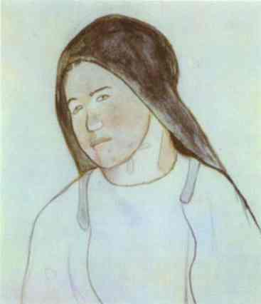 Gauguin Head Of Young Breton Peasant Woman