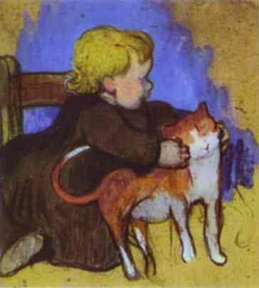 Gauguin Mimi And Her Cat