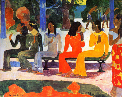 Gauguin Paul The market Sun