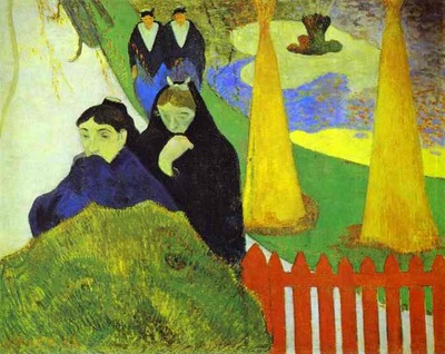 Gauguin Women From Arles In The Public Garden, The Mistral
