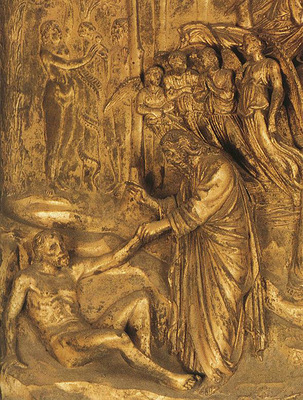 Ghiberti Lorenzo Creation of Adam and Eve dt1