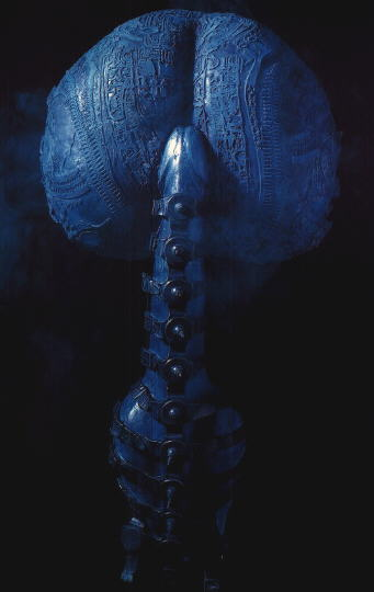 H R Giger 1993 LAMP colored polyester, rubber 80x40x20cm No WA73a