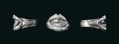 Giger 6 E L P  LIP RING sterling silver 1 5cm height
