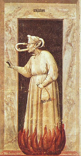 Giotto The Seven Vices Envy, 1306, 120x55 cm, Arena chapel,