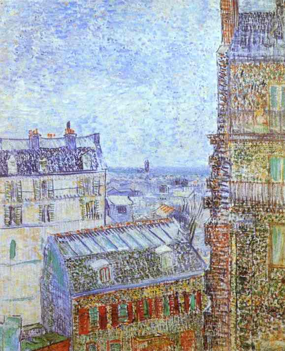 Paris Vu De La Chambre De Vincent Rue Lepic  Vincent Van Gogh