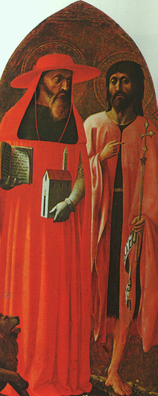 Masolino St  Jerome and St  John the Baptist, 1428, National