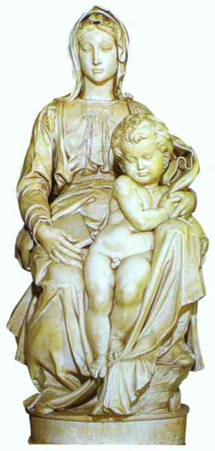 Michelangelo Virgin and Child