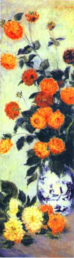 Claude Monet Dahlias