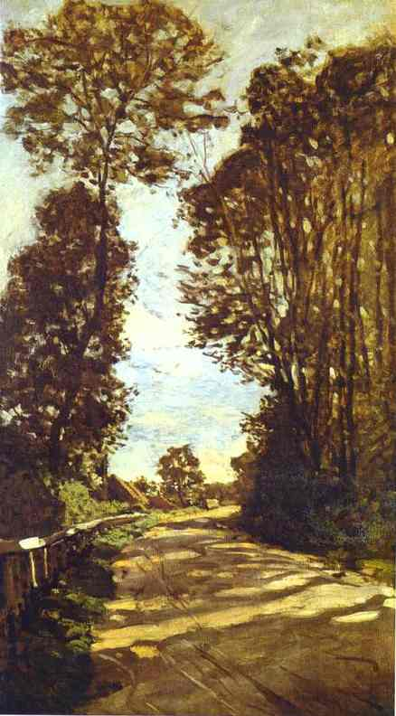 Claude Monet Road to the Saint Simeon Farm