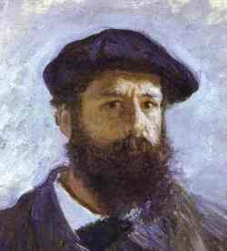 Claude Monet Self Portrait  Detail