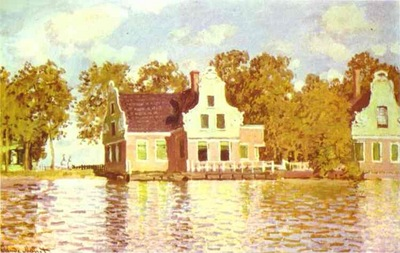 Claude Monet The House on the River Zaan in Zaandam