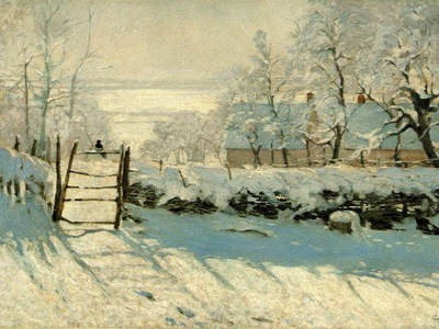 Monet Magpie, Snow Effect, Outskirts of Honfleur