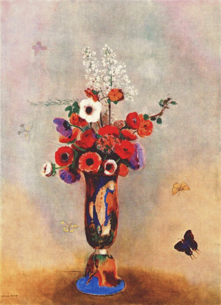 redon vase of flowers with butterflies 1912 « Odilon Redon « Artists ...