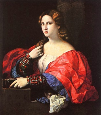 Palma Vecchio Portrait of a Woman La Bella , canvas