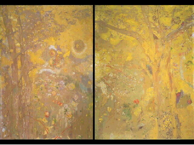 Redon Arbre sur fond jaune  1901, 149x185, Musee dOrsay