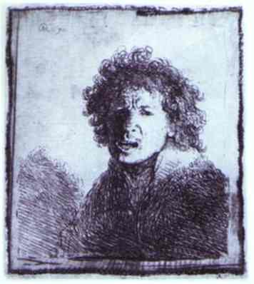 Rembrandt Self Portrait Open Mouthed