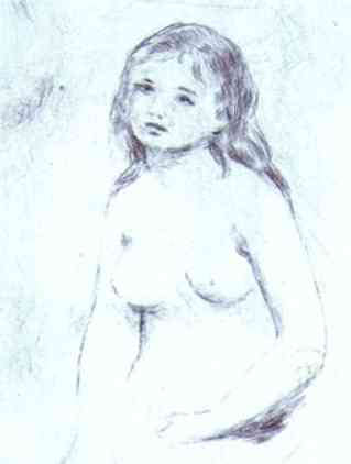 Pierre Auguste Renoir Bather