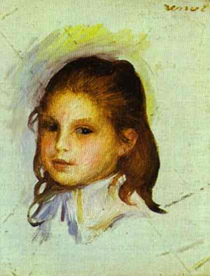 Pierre Auguste Renoir Girl with Brown Hair