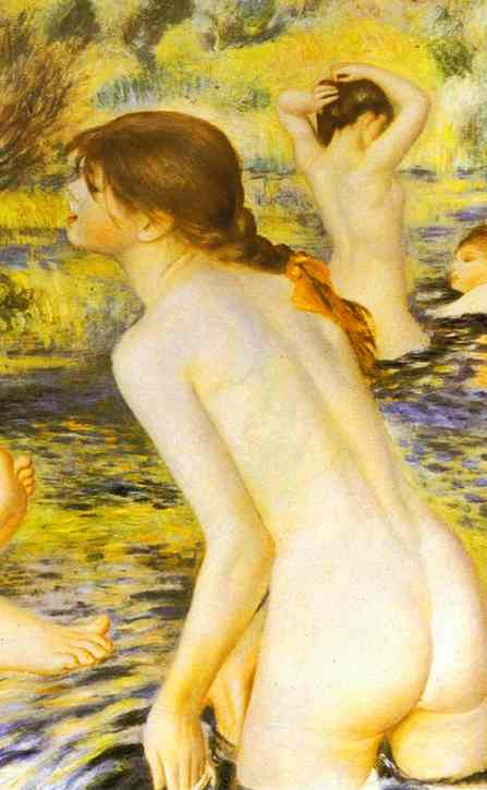 Pierre Auguste Renoir The Bathers detail