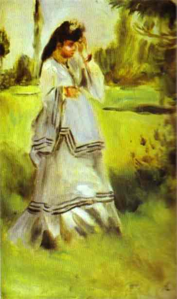 Pierre Auguste Renoir Woman in a Park