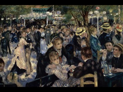 Ball at the Moulin de la Galette, Renoir, 1876 1600x1200